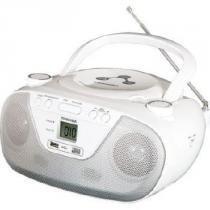 Rádio Portátil Boombox 2W CD/MP3/USB TR8003 Branco - Semp Toshiba - Semp Toshiba