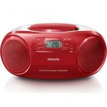 Rádio Portátil Philips AZ331TX/78 CD/USB/MP3/FM/Bluetooth Vermelho - Bivolt (Manual) - Philips