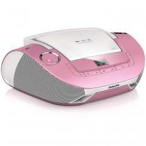 Rádio Portátil Philips com CD/USB/MP3 2X1W AZ1837P/78RS Rosa - NULL - Philips