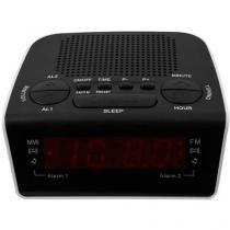 Rádio Relógio Despertador/Alarme AM/FM Display - RM-RRD21 Motobras