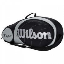 Raqueteira Wilson Team 3 Pack Preta e Prata - Wilson
