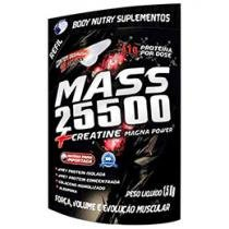 Refil Mass 25500 + Creatine Magna Power 1,5Kg - Morango e Banana - Body Nutry