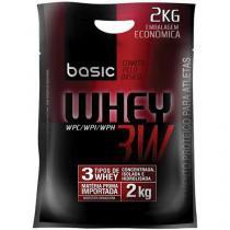Refil Whey Protein 3W 2Kg Capuccino Mix de Frutas - Basic Nutrition