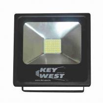 Refletor Slim SuperLED SMD Branco - 30W Bivolt- DNI 6067 - KEY WEST