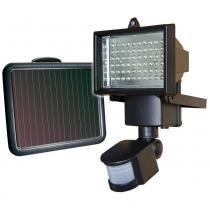 Refletor Solar Ecoforce 9206 Preto 60 Leds com Sensor de Movimento - International