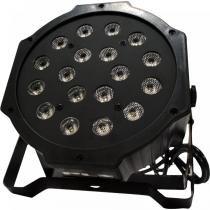Refletor Ultra Light OCTOPUS com 18 Leds de 1W Bivolt RGB - PLS - PLS