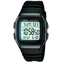 Relógio de Pulso Masculino Esportivo Digital - Cronômetro Casio Mundial W-96H-1BVDF