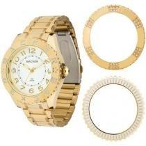 Relógio Feminino Backer 3301145F - Analógico Resistente a Água Troca Aros