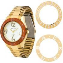 Relógio Feminino Backer 3307145F - Analógico Resistente a Água Troca Aros