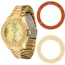 Relógio Feminino Backer 3308145F - Analógico Resistente a Água Troca Aros