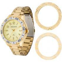 Relógio Feminino Backer 3312145F - Analógico Resistente a Água Troca Aros