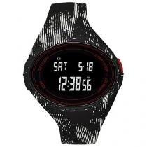 Relógio Masculino Adidas Performancer ADP3179/8PN - Digital Resistente à Água Cronômetro Calendário