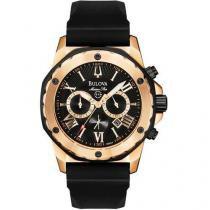 Relógio Masculino Bulova WB 30873 P - Analógico Resistente à Água Cronógrafo