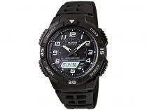 Relógio Masculino Casio AQ-S800W-1BVDF - Anadigi Resistente à Água Calendário