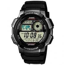 Relógio Masculino Casio Mundial AE 1000W 1BVDF - Digital Resistente à Água com Cronógrafo