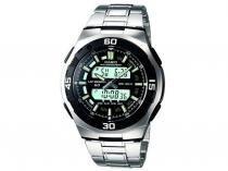 Relógio Masculino Casio Mundial AQ-164WD-1AV - Anadigi Resisitente á Água com Cronômetro