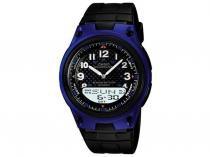 Relógio Masculino Casio Mundial AW-80-2BVDF - Anadigi com Cronômetro Resistente à Água