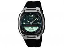 Relógio Masculino Casio Mundial AW-81-1A1VDF - Anadigi Resistente á Água com Cronômetro