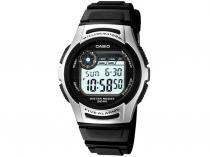 Relógio Masculino Casio Mundial W-213-1AVDF Digital Resistente à Água Cronógrafo Calendário