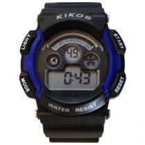 Relógio Masculino Kikos RK01 Digital - Resistente à Água com Alarme e Calendário