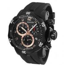 Relógio Masculino Magnum MA33755P - Analógico Resistente à Água Cronógrafo Calendário