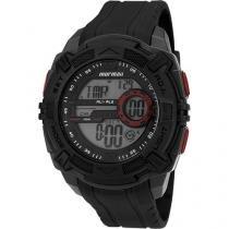 Relógio Masculino Mormaii MO1077AB/8R Digital - Resistente à Água Cronômetro Calendário Alarme