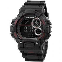 Relógio Masculino Mormaii MO879/8R Digital - Resistente à Água com Cronômetro e Calendário
