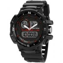 Relógio Masculino Mormaii MO9789/8R Anadigi - Resistente à Água com Cronômetro e Calendário