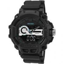 Relógio Masculino Mormaii MOAD1105A/8C Anadigi - Resistente à Água com Cronômetro e Calendário
