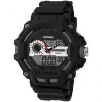 Relógio Masculino Mormaii MOAD1105B/8R Anadigi - Resistente à Água com Cronômetro e Calendário