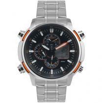Relógio Masculino Orient MBSSA044 POSX - Anadigi com Cronógrafo e Data Resistente á Água
