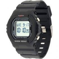Relógio Masculino Surf More 6524491M - Digital Resistente a Água Cronógrafo Calendário