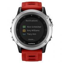 Relógio Monitor Cardíaco Multiesporte Garmin - Fenix 3 Bundle Resistente à Água 010-01338-16