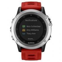 Relógio Monitor Cardíaco Multiesporte Garmin - Fenix 3 Resistente à Água 010-01338-06