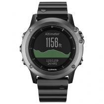 Relógio Monitor Cardíaco Multiesporte Garmin Fenix - 3 Saphira Bundle Resistente à Água 010-01338-26