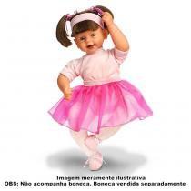 Roupa Para Boneca Bailarina Rosa - Laço de Fita