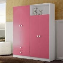 Roupeiro 4 Portas Meu Fofinho Rosa - Art in Móveis - rosa - Art in Móveis