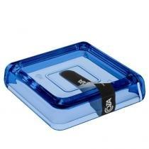 Saboneteira Cube 10x10x2cm Azul 20875/0461 - Coza - Coza