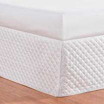 Saia para Cama Box Requinte King Branco - Markine - Branco - Sulamita