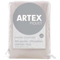 Saia para Cama Box Solteiro - Artex Troca Fácil Piquet