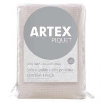 Saia para Cama Box Solteiro Premium Piquet - 90x190cm - Artex