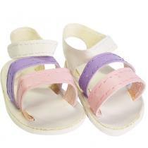 Sandália de Luxo Para Boneca (Lilás e Rosa) - Laço de Fita