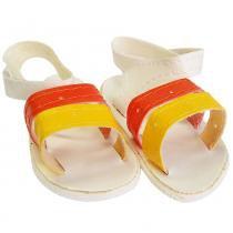 Sandália de luxo para Bonecas (Laranja e Amarelo) - Laço de Fita
