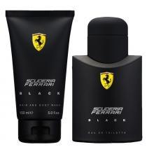 Scuderia Ferrari Black Eau de Toilette Ferrari - Perfume Masculino 75ml + Gel de Banho 150ml - Ferrari