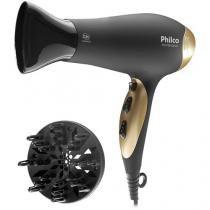 Secador de Cabelo Philco PH3700 Gold - com Íons 2000W 2 Velocidades