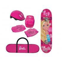 Skate Barbie com Kit de Segurança 7619-1 - Fun - Fun