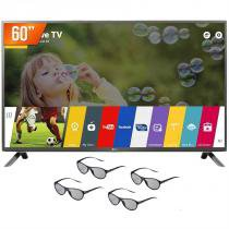 "Smart TV LED 3D 60"" LG Full HD 3 HDMI 3 USB Wi-Fi Integrado 60LF6500 + 4 Óculos 3D - Lg"
