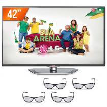 "Smart TV LED 42"" LG Full HD 3 HDMI Conversor Digital 42LA6204 + 4 Óculos 3D LG - Lg"
