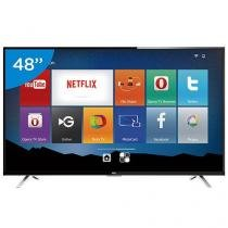 "Smart TV LED 48"" TCL Full HD L48S4700FS - Conversor Digital Wi-Fi 3 HDMI 1 USB DTVi"
