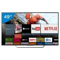 "Smart TV LED 49"" Sony 4K Ultra HD KD-49X7005D - Android TV Conversor Digital Wi-Fi 4 HDMI 3 USB"
